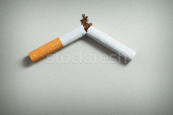 Stoppen Rauchen defekt Zigarette grau Stock foto © kenishirotie