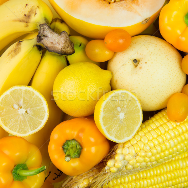 Yellow vegetables and fruits Stock photo © kenishirotie