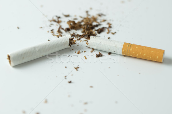 Quit smoking concept by breaking the cigarette Stock photo © kenishirotie