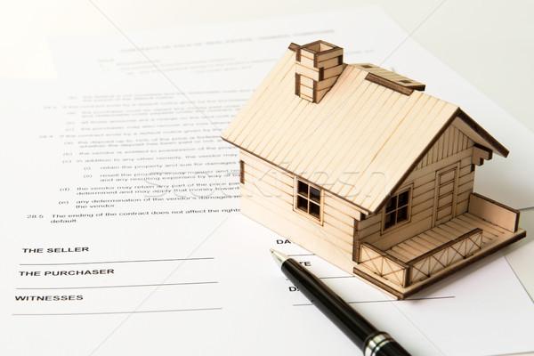 Inmobiliario venta jurídica documento propiedad negocios Foto stock © kenishirotie