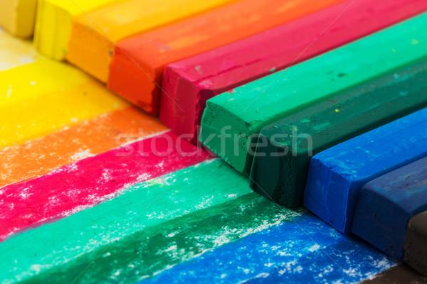 Olio pastello pastelli abstract arte Foto d'archivio © kenishirotie