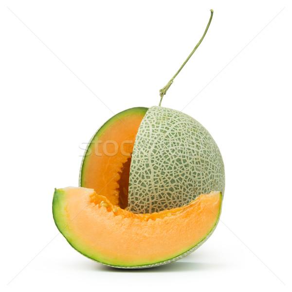 Orange Melone weiß Essen Gesundheit Stock foto © kenishirotie