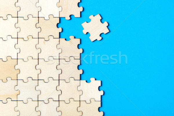 Blue background made from jigsaw puzzle Stock photo © kenishirotie
