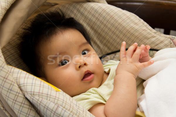 автомобилей сиденье азиатских Kid человек Сток-фото © kenishirotie