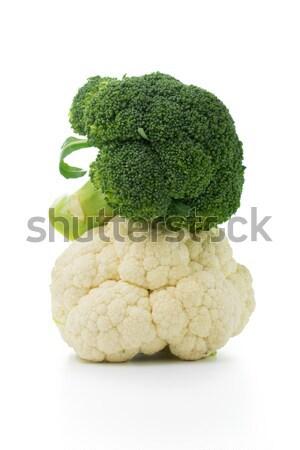 Foto d'archivio: Broccoli · cavolfiore · isolato · bianco · fresche · maturo