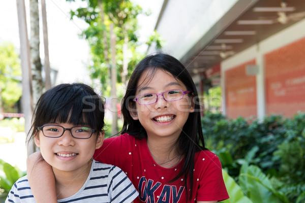 2 姉妹 子 アジア 女の子 ストックフォト © kenishirotie