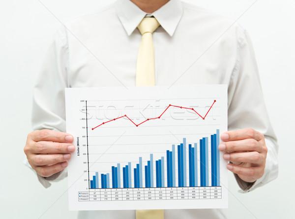 Business grafico uomo finanziaria grafico Foto d'archivio © kenishirotie