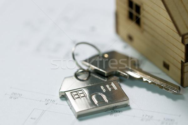 ключевые дома плана модель макет строительство Сток-фото © kenishirotie