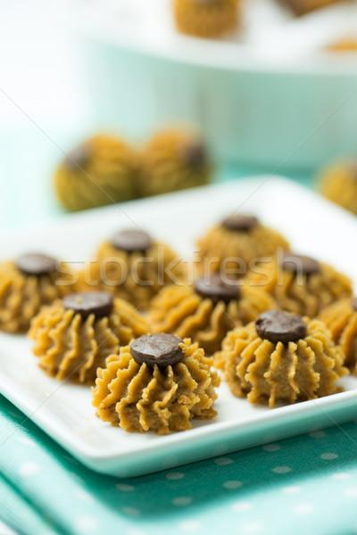 Coffee chocolate chip cookie Stock photo © kenishirotie