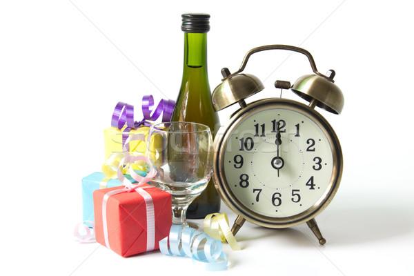 Countdown klok klassiek beneden middernacht viering Stockfoto © kenishirotie