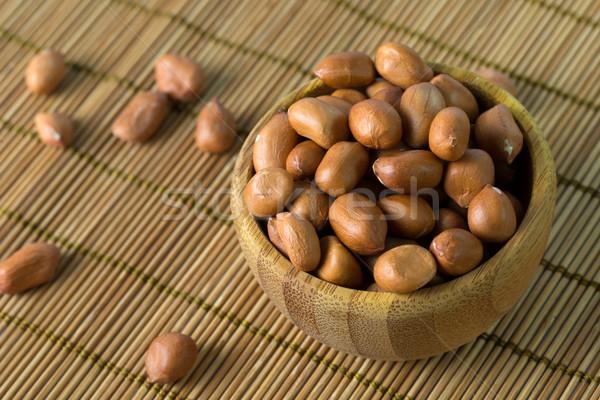 Amendoins tigela comida abstrato Foto stock © kenishirotie