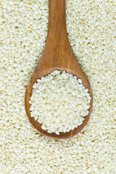 Witte sesam hoop natuur gezondheid Stockfoto © kenishirotie