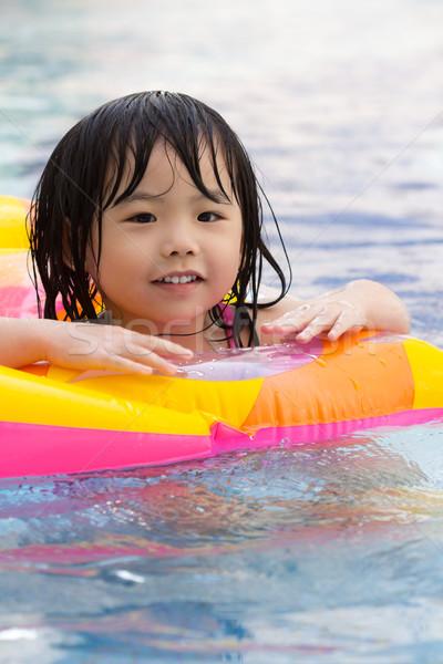 Bambina piscina bambini ragazzi sport Foto d'archivio © kenishirotie