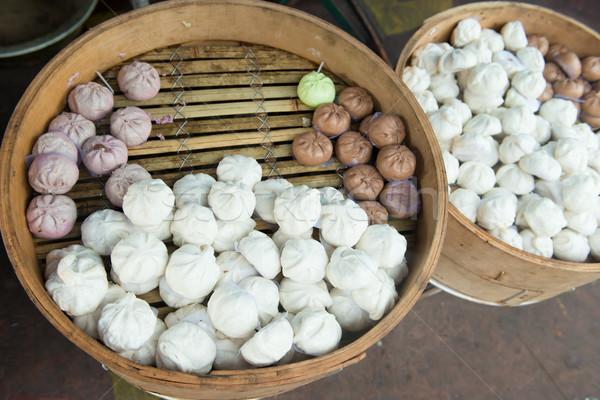 Chinese steamed bun Stock photo © kenishirotie