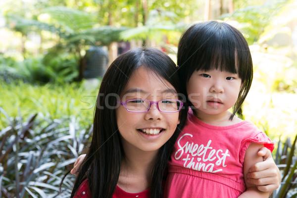 Dos mejor hermana parque alegre Asia Foto stock © kenishirotie