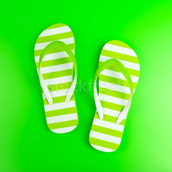 Green striped sandal Stock photo © kenishirotie