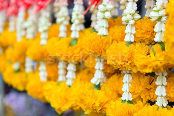 цветок гирлянда желтый корона безопасной хорошие Сток-фото © kenishirotie