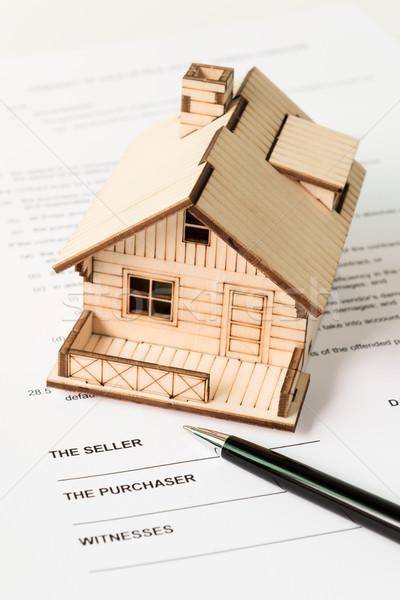 Immobiliari vendita giuridica documento proprietà business Foto d'archivio © kenishirotie