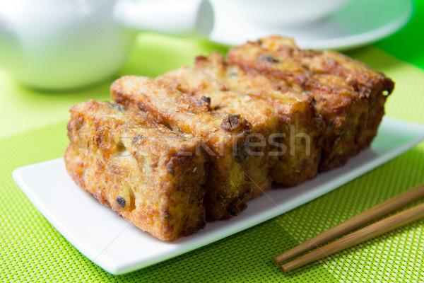 Deep fried pumpkin rice cake Stock photo © kenishirotie