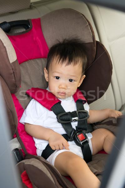 肖像 かわいい 少年 座って 車 ストックフォト © kenishirotie