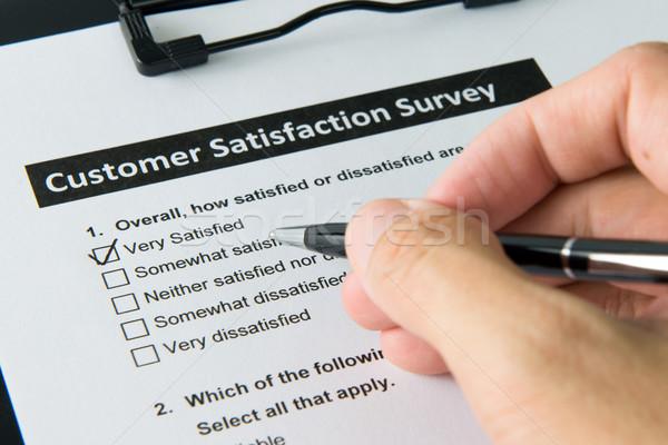 Customer satisfactory survey Stock photo © kenishirotie
