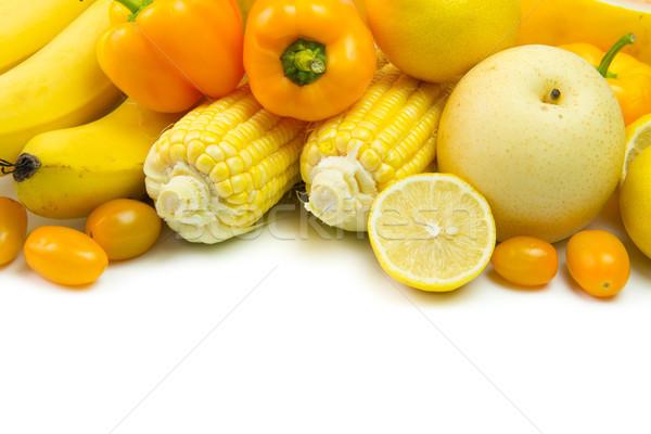 Yellow vegetables and fruits Stock photo © kenishirotie