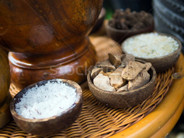 Traditional Indonesian spices used in Jamu spa treatments. Stock photo © kenishirotie