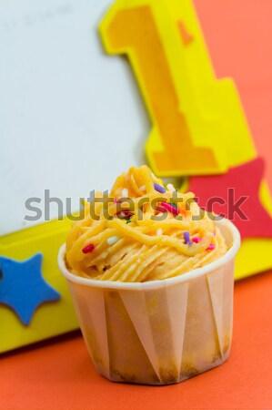 Ingericht Geel voedsel beker room Stockfoto © kenishirotie