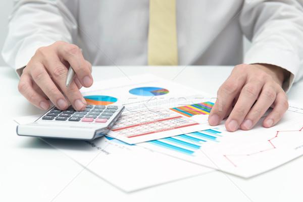 Análisis de negocio empresario calculadora negocios datos análisis Foto stock © kenishirotie