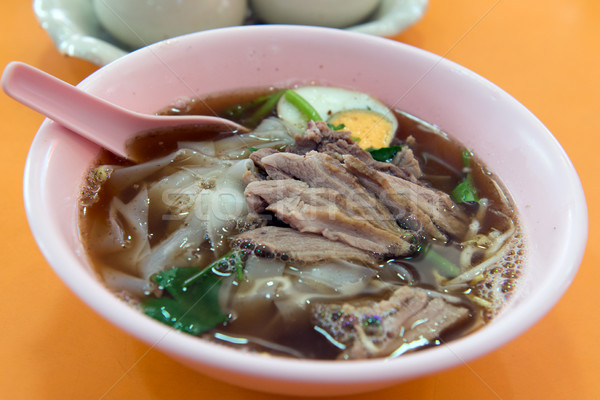 тайский стиль утки мяса суп Сток-фото © kenishirotie
