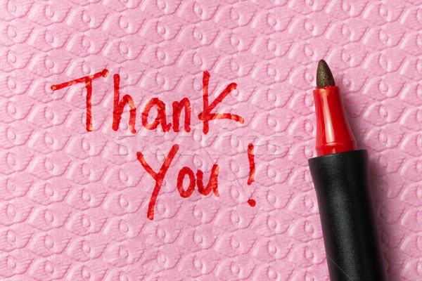 Thank you phase on napkin Stock photo © kenishirotie