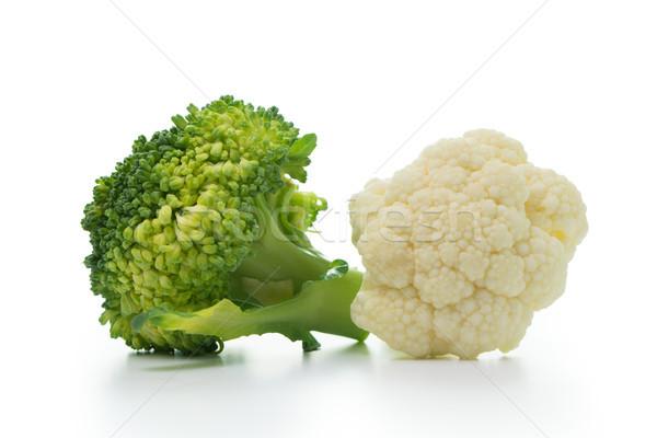 Brócoli coliflor aislado blanco frescos maduro Foto stock © kenishirotie