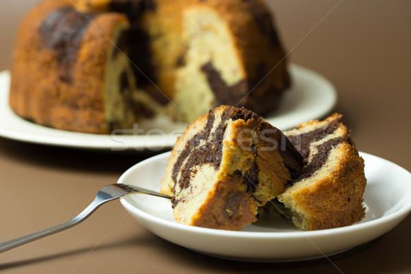 банан шоколадом торт домашний готовый пластина Сток-фото © kenishirotie