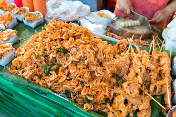 タイ 屋台の食べ物 深い フライド エビ ビスケット ストックフォト © kenishirotie