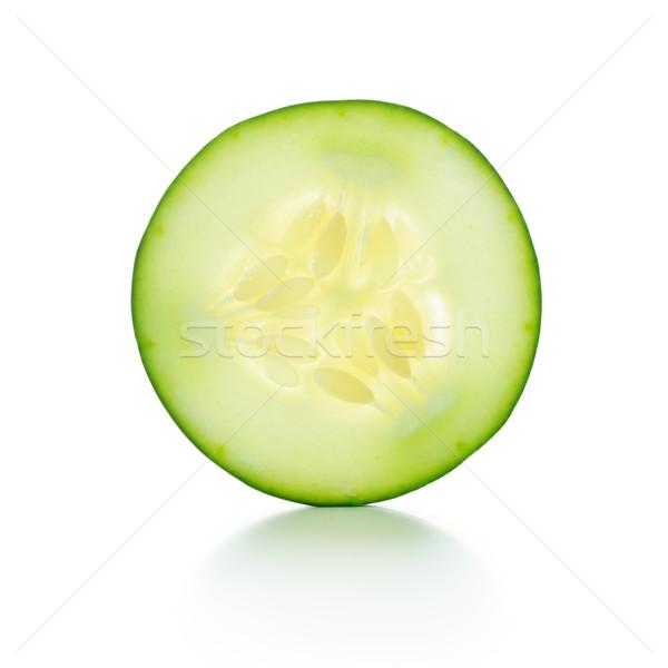 Rebanada pepino blanco alimentos salud Foto stock © kenishirotie