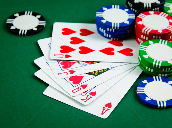 Photo stock: Royal · cartes · à · jouer · montrent · poker · jeu · coeur