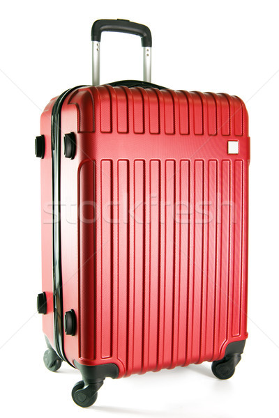 赤 旅行 荷物 孤立した 白 色 ストックフォト © kenishirotie
