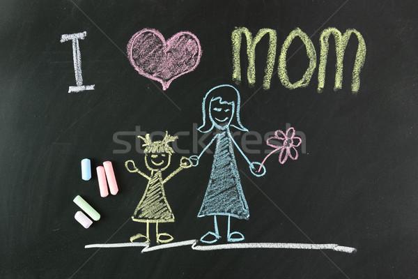 Madres día nino dibujo amor mamá Foto stock © kenishirotie