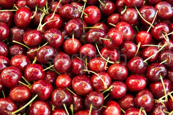 красный Вишневое макроса свежие фрукты Сток-фото © kenishirotie