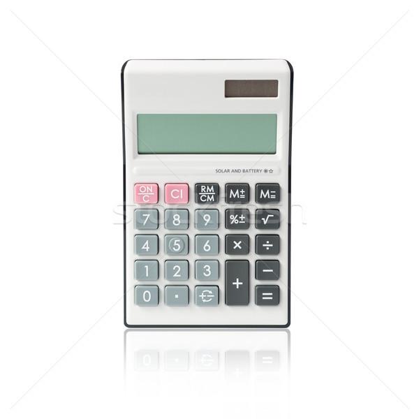 Calculadora aislado blanco oficina tecnología fondo Foto stock © kenishirotie