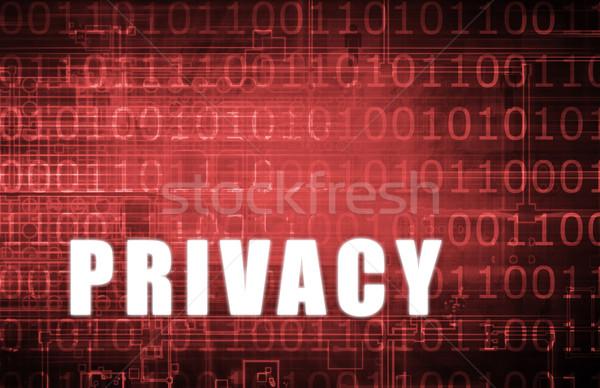 Prywatność cyfrowe dwójkowy ostrzeżenie streszczenie sieci Zdjęcia stock © kentoh
