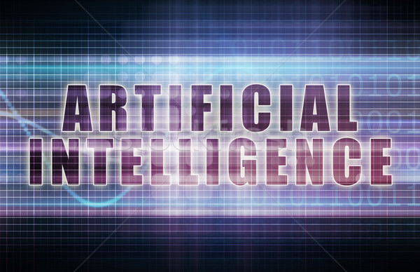 Mesterséges intelligencia tech üzlet diagram művészet absztrakt Stock fotó © kentoh
