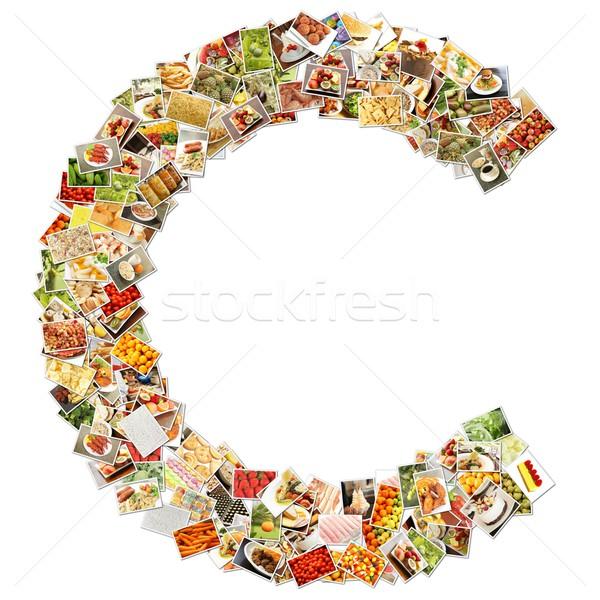 Letra c fonte forma alfabeto colagem negócio Foto stock © kentoh