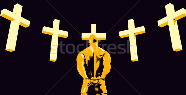 Cárcel prisión religión cristianismo Jesús libertad Foto stock © kentoh
