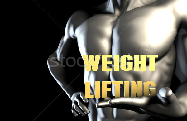 Weightlifting Stock photo © kentoh
