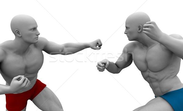 Vegyes küzdősportok képzés háttér sportok őrült Stock fotó © kentoh