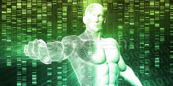 Genético engenharia ciência pesquisa desenvolvimento homem Foto stock © kentoh