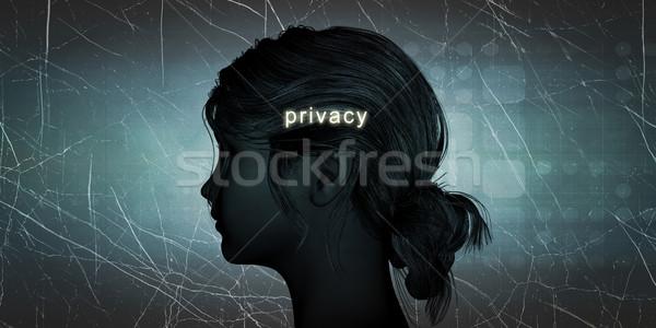 Femme vie privée personnelles défier fond Photo stock © kentoh