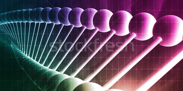 分子 DNA鑑定を 遺伝の 芸術 コンピュータ ストックフォト © kentoh