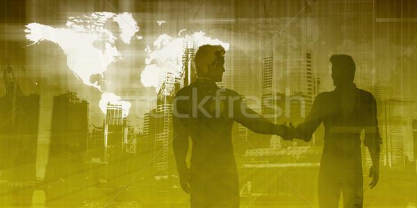 商務會議 全球 團隊 討論 業務 會議 商業照片 © kentoh